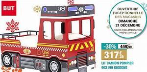 Lit Chez But : bon plan 30 sur le lit camion de pompier pour enfant chez but ~ Teatrodelosmanantiales.com Idées de Décoration