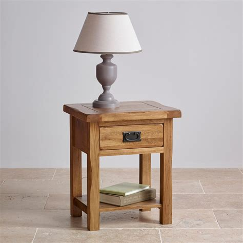 Country French Living Room Pictures by Original Rustic Lamp Table In Solid Oak Oak Furniture Land
