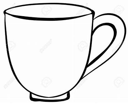 Cup Clipart Coffee Plain Drawing Cliparts Mug