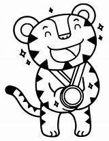 Olympic Medal Drawing Mascot Coloring Getdrawings sketch template