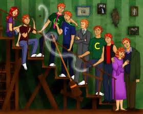 Harry Potter Weasley Family Anime