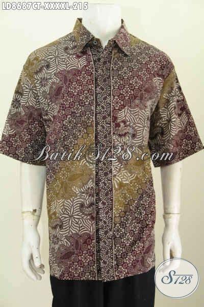 baju batik ukuran besar  hem batik pria gemuk