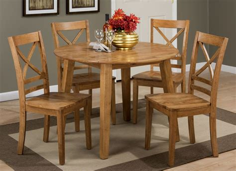 simplicity honey extendable round drop leaf dining room