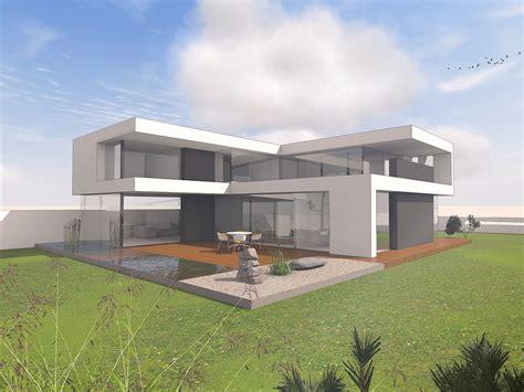 Modernes Haus Im Bauhausstil  Massivhaus Wohnhaus