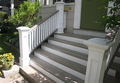 front porch stairs front steps railings and newel posts 171 edgewater woodwork