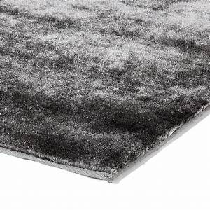 tapis gris extra doux pas cher 133x190cm monbeautapiscom With tapis gris clair pas cher