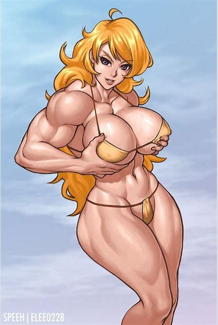 Blonde Muscle Girl by elee0228 on DeviantArt