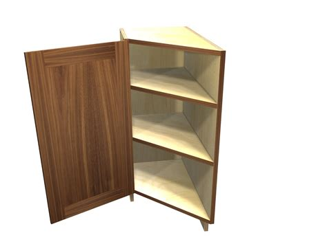 45 degree corner kitchen cabinet 1 door 45 degree transition cabinet left