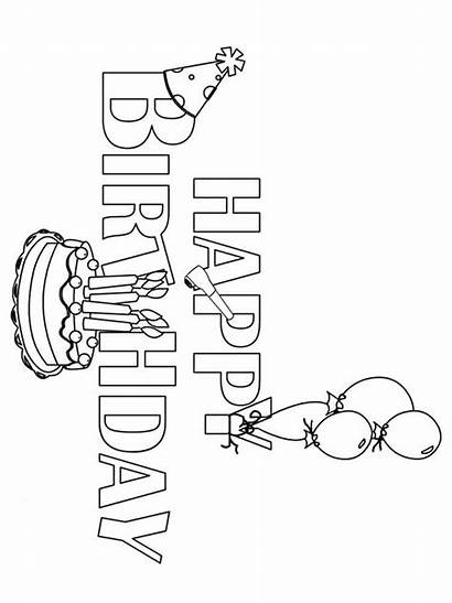 Coloring Birthday Happy Pages Printable Colors Bright