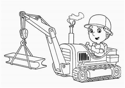 handy manny  tractor coloring page  print  coloring pages   color