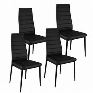 Chaise Noire Design : chaise smart noir design lot de 4 achat vente chaise m tal pvc cdiscount ~ Teatrodelosmanantiales.com Idées de Décoration