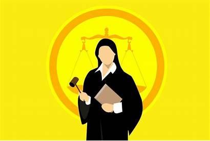 Judge Court Silhouette Law Justice Legal Illustration