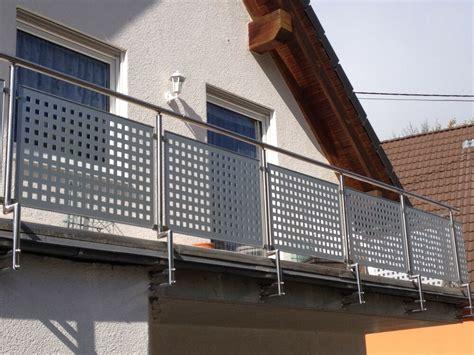 Für Balkon by Balkongel 228 Nder Edelstahl Mit Alu Lochblech Balkon