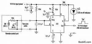 555 Latch - 555 Circuit - Circuit Diagram