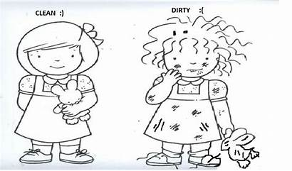 Clean Dirty Worksheets Worksheet Coloring Opposites Printablecolouringpages
