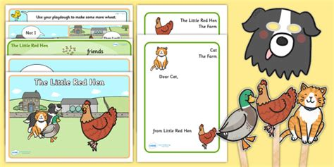 The Little Red Hen Story Sack