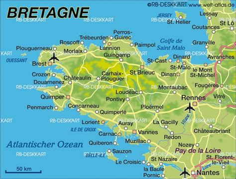 brittany france map ideas  pinterest map