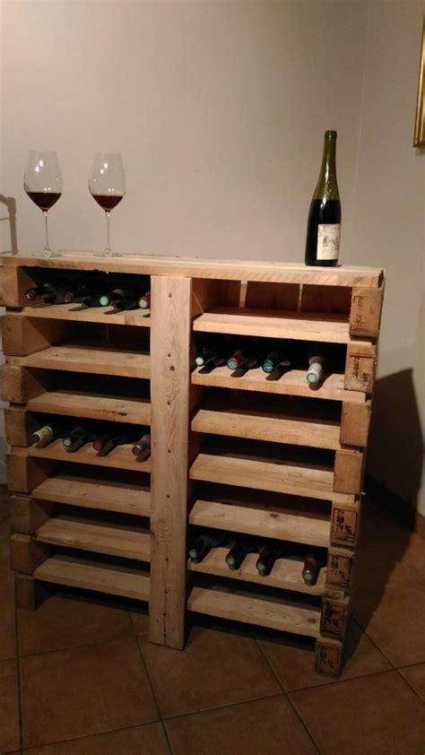 cave a vin de cuisine bar à vin en bois de palette recyclé créations en bois