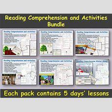 Reading Comprehension And Activities Bundle  Presentations, Lesson Plans, Grammarword Focus