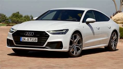 2019 new audi a7 white exterior and interior youtube