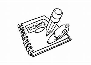 Pin Notebook Coloring Page Exercice Book Compass on Pinterest
