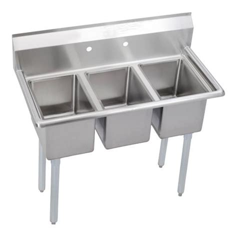three compartment kitchen sink elkay 3c10x14 0x deli 39 in 3 compartment sink etundra 6107