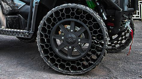 Polaris Airless Tires by Airless And Bulletproof Tires Being Introduced In New