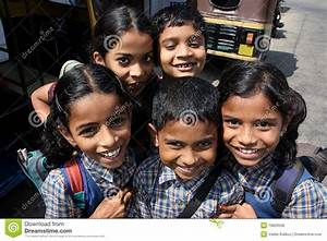 The Smiling Children Went From Indian School Editorial ...