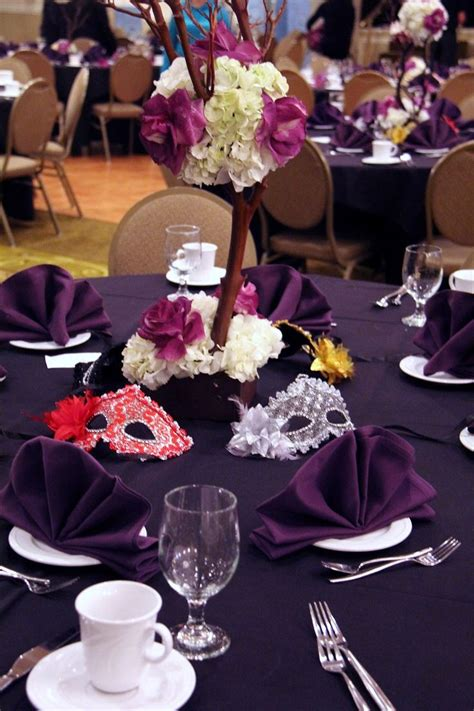 Quinceanera Decorations Ideas 2014 by Table Setting Masquerade Party Pinterest