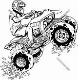 Wheeler Coloring Atv Four Pages Quad Drawing Clipart Bike Racing Printable Silhouette Wheelers Clip Wall Boys Jumping Extreme Decals Truck sketch template