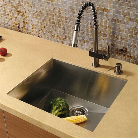 square kitchen sink 20 quot au courant quot stainless steel sinks abode 2447