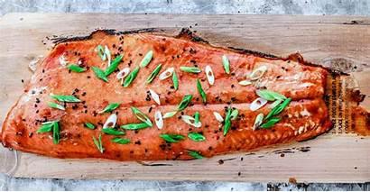 Salmon Lime Sriracha Glaze Plank Cedar Seafood