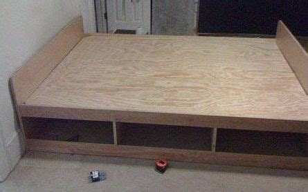 diy platform bed frame  storage uwkokbo bedroom wall