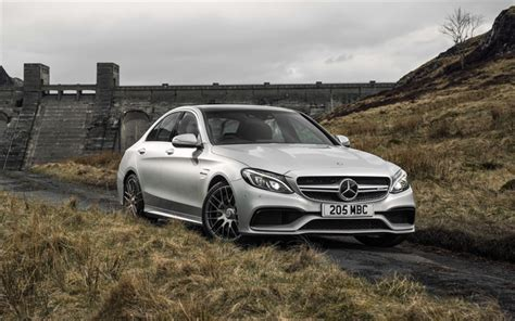 Mercedes C Class Sedan 4k Wallpapers by Wallpapers Mercedes Amg C63 2017 4k White