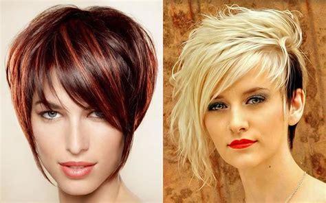 asymmetrical short haircut  ladies  summer hair