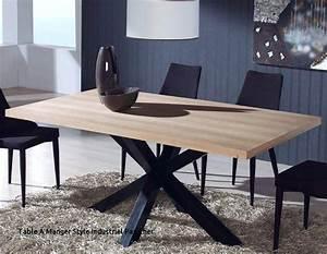 Table De Salle A Manger Industriel : confortable table salle a manger industriel table salle a manger industrielle ikea ~ Teatrodelosmanantiales.com Idées de Décoration