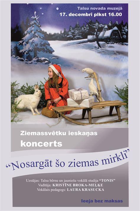Ziemassvētku ieskaņas koncerts - Talsu novada muzejs