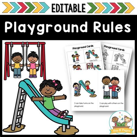 playground and recess editable pre k pages 417 | playground cover