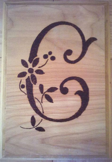 monogrammed wood burned plaque   letter   item    perfect wedding