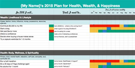 goal setting template excel 2018 goal setting template ideas