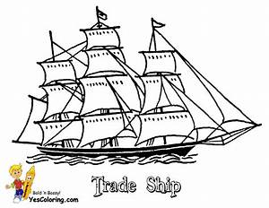 Sky High Tall Ships Coloring Pages | Ship | Free | Sailing ...