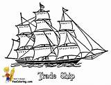 Coloring Ships Boys Tall Ship Boats Nave Sailing Colorare Disegni Sky Yescoloring sketch template