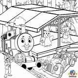 Coloring Thomas Pages Train Truck Halloween Printable Tank Engine Toy Tunnel Garbage Drawing Friends Colour Tonka Colouring Farm Station Sheets sketch template