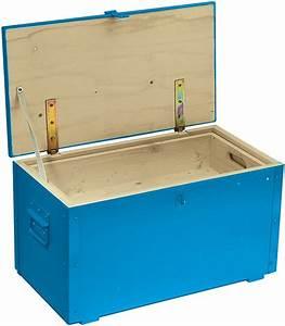 Caisse A Outils Bois : caisse outils en bois bleu avec couvercle sacoches coffres et caisses outils ~ Melissatoandfro.com Idées de Décoration