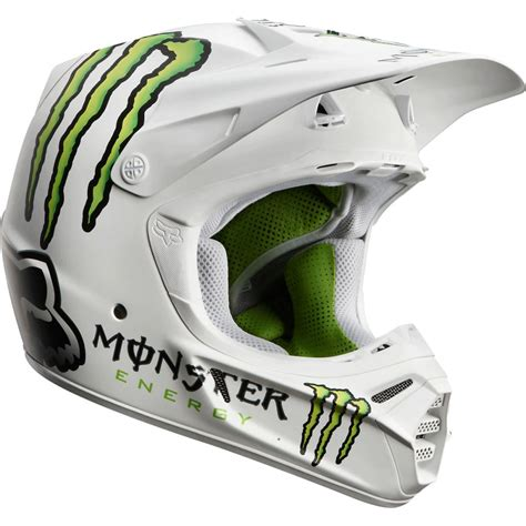 monster helmet motocross fox monster energy white helmet motocross gear