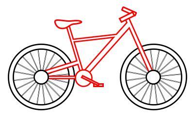drawing  cartoon bicycle