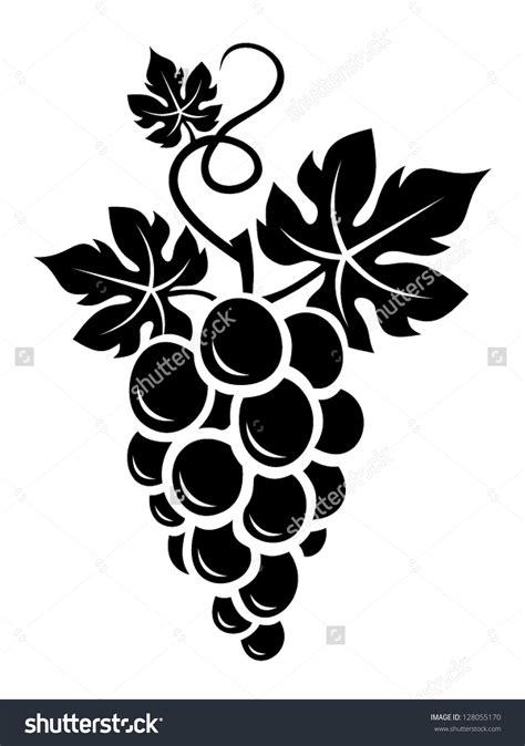 grape outline clipart black  white clipground