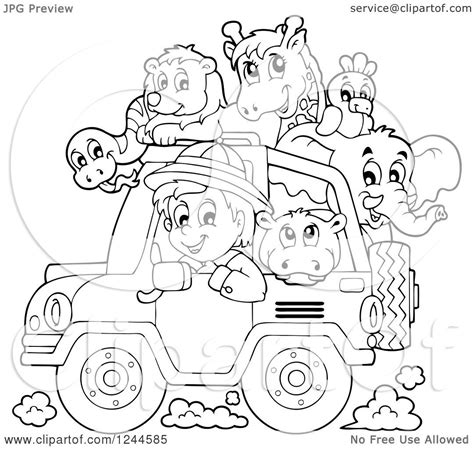 safari jeep coloring page free safari jeep coloring pages