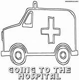 Hospital Coloring Pages Print Colorings Building sketch template