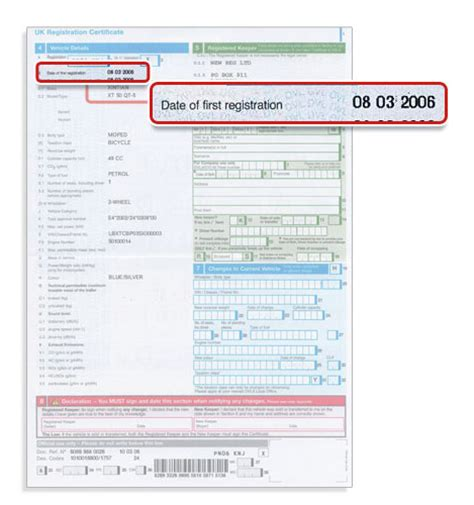 Where To Find Your V5c Date Of First Registration